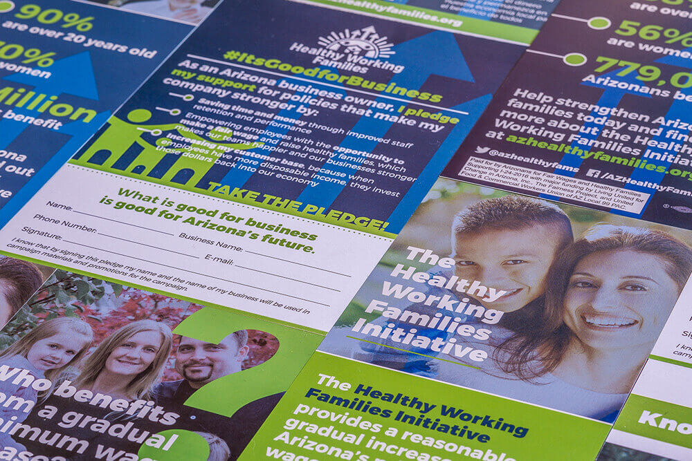 Prop 206 Arizona Healthy Working Families Marketing and Promotional Materials