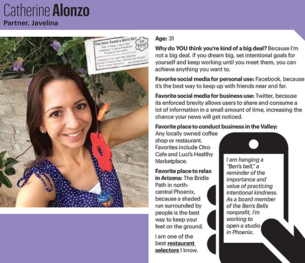 Catherine Alonzo Interview with Phoenix Business Journal for 40 Under 40 Class of 2014