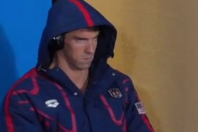 Michael Phelps Listens to Keepin' it 1600 Before His Match