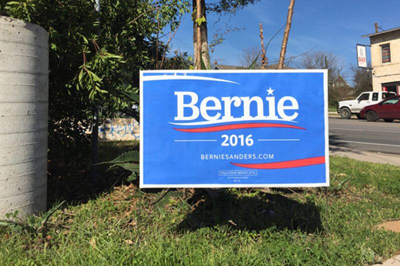Political Branding Bernie Sanders Yard Signs