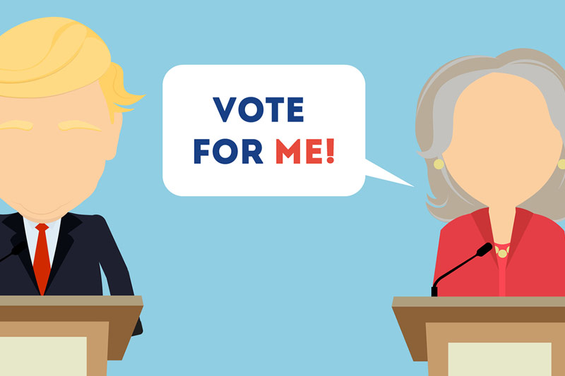 Presidential Debate-Hillary Clinton and Donald Trump Face Off